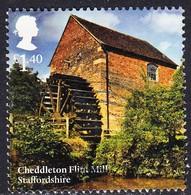 2017 GB   Wind And Watermills - Cheddleton Flint Mill, Staffordshire £1.40  Used - 1952-.... (Elizabeth II)