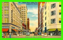 JACKSONVILLE, FL - ADAMS STREET, LOOKING EAST - ANIMATED OLD CARS - LEVY'S STORE - - Jacksonville