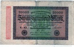 Billet Allemand De 20000 Mark Le 20-2-1923 - - 20000 Mark