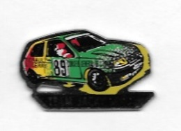 Pin' S  Ville, Sport  Automobile  Rallye  Avec  RENAULT  AUXERRE ( 89 ) Et CONSEIL GÉNÉRAL DE L' YONNE, TEAM JACKY LEROY - Rallye