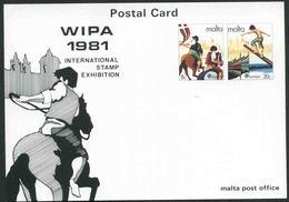 1981 Europa C.E.P.T., Cartolina Postale Malta Wipa 1981, Serie Completa Nuova (**) - Europa-CEPT