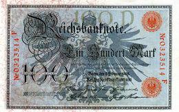 Billet De 100 Mark Type 1908 Cachet Rouge Sup - [ 2] 1871-1918 : German Empire