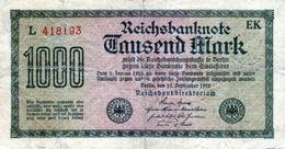 Billet De 100 Mark Du 15 Septembre 1922 - - [ 3] 1918-1933 : República De Weimar