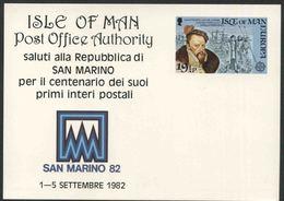 1982 Europa C.E.P.T., Cartolina Postale Isola Man, Serie Completa Nuova (**) - Europa-CEPT
