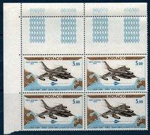 MON 1964  Vol New-York Paris Sur Avion Convair B58   N° YT PA 82  Bloc De 4 Coin De Feuille - Poste Aérienne