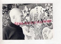 23 - AUBUSSON - DOM ROBERT ARTISTE PEINTRE DE CARTONS TAPISSERIE TAPIS - PEINTURE  1984- RARE PHOTOS ORIGINALES - Métiers