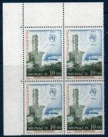 MON 1965  Union Internationale Des Télécommunications   N° YT PA 84  Bloc De 4 Coin De Feuille - Poste Aérienne