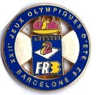 TELEVISION - ANTENNE 2 / FR3 - AF10 - XIIe JEUX OLYMPIQUES - BARCELONE - Verso : DECAT PARIS - Médias
