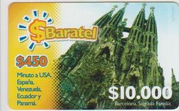COLOMBIA - PREPAID - BARCELONA SAGRADA FAMILIA - BARATEL - Colombia