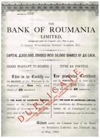 Action Ancienne - The Bank Of Roumania Limited  - Titre De 1924 - Banque & Assurance