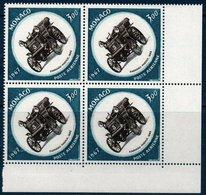 MON 1967  25ème Grand Prix De Monaco   N° YT PA 91   Bloc De 4 Coin De Feuille - Poste Aérienne