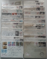 Belgique 1970/80 - Petit Lot De 100 Lettres Recommandées - Timbres