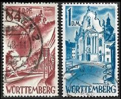 WURTEMBERG  1948  -  Zone Française - Occupation - YT 26 Et 27 - Cote 10e - Französische Zone