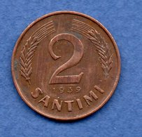 Lettonie   - 2 Santu 1939  - état TTB - Latvia
