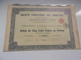 FORESTIERE DES ARDENNES  (1925) - Actions & Titres
