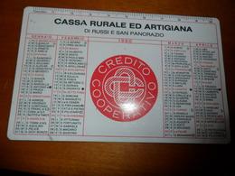 Calendario Piccolo CASSA RURALE ED ARTIGIANA DI RUSSI E S.PANCRAZIO (RA) 1980 - Calendars