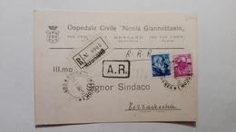 """1964 - Comunicazione Ricovero Dall'Osp.Civile """"N.Giannettasio"""" Di Rossano (CS) - 6. 1946-.. Republic"""