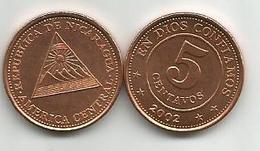 Nicaragua 5 Centavos 2002.  KM#97 High Grade - Nicaragua