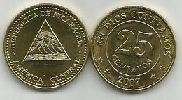 Nicaragua 25 Centavos 2007.  KM#99 High Grade - Nicaragua