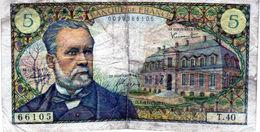 Billet De 5 Francs Pasteur 4-11-1966 En T B - - 1962-1997 ''Francs''