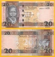 South Sudan 20 Pounds P-13 2017 UNC Banknote - South Sudan