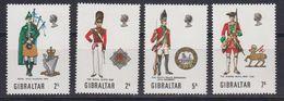 Gibraltar 1970 Uniforms 4v  ** Mnh (42570E) - Gibraltar