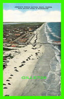 DAYTONA BEACH, FL - VIEW OF THE BEACH & HALIFAX RIVER IN BACKGROUND - ANIMATED - SOUTHERN CARD & NOVELTY CO - - Daytona