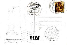 Egypt 2004 Sharm El Sheikh South Sinai Postcode 46599 Viewcard To Italy - Brieven En Documenten