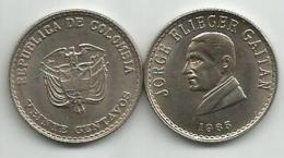Colombia 20 Centavos 1965.  Jorge Gaitan KM 224 High Grade - Colombia