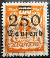 DANTZIG                            N° 143                         OBLITERE - Danzig