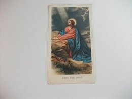 SANTINO HOLY PICTURE IMAGE SAINTE GESU' NELL'ORTO - Religione & Esoterismo