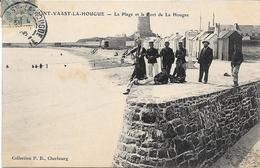 St Vaast La Hougue  - Plage Et Port    -   Circulé - Saint Vaast La Hougue