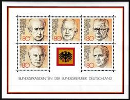 Bloc Feuillet Neuf** De 5 Timbres-poste - Présidents De La République Fédérale Allemande - BF 17 (Yvert) - RFA 1982 - [7] Federal Republic