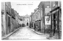 NOYEN (Sarthe) - Grande Rue (animée, Publicité Lu Et Picon) - France