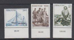 Faroe Islands 1984 Sea Fishing 3v ** Mnh (42571) - Faeroër