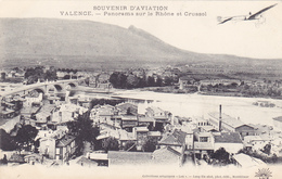 CPA 26 @ VALENCE - Panorama Sur Le Rhône Et Crussol - Avion Aviation - Valence