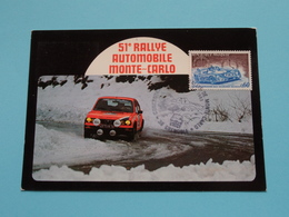 51e RALLYE AUTOMOBILE MONTE-CARLO ( Edit. André ) Anno 1983 ( See / Voir / Zie > Photo ) FDC 22-23 Janvier ! - Monte-Carlo