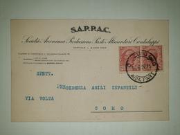 CP260-Cartolina Pubblicitaria Società Anonima Propduzione Paste Alimentari Cantaluppi - Como - 1900-44 Victor Emmanuel III