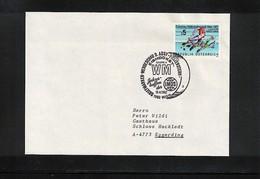 Austria / Oesterreich 1987  Wien World Hockey Championship  Interesting Cover - Jockey (sobre Hielo)