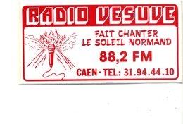 14   Autocollant 14x7    CAEN   Radio-Vesuve       Très Bon état - Caen