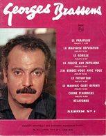 GEORGES BRASSENS - ALBUM N° 1 DE 9 PARTITONS - EXCELLENT ETAT - - Musik & Instrumente