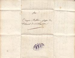 Meurthe Et Moselle , Cachet Port Payé Nancy à Voir Sur Document De L'An 8 , 23 Nov.1799 ,2 Scans - 1701-1800: Précurseurs XVIII