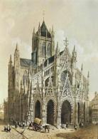 76 Rouen L'Eglise Saint Maclou En 1852 (2 Scans) - Rouen