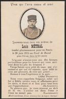 Généalogie - Faire-part De Décés - Carte Mortuaire : Soldat Louis Métral - Tombé Le 20 Juin 1915 Au Fond De Buval Arras - Obituary Notices