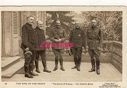"""TH -1914-18 - War Pictures - The King At The Front - """" The Smile Of Victory """" - Oorlog 1914-18"""