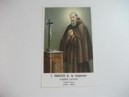 SANTINO HOLY PICTURE IMAGE SAINTE SAN FRANCESCO M. DA CAMPOROSSO PADRE SANTO - Religione & Esoterismo