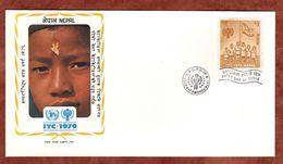 FDC, Jahr Des Kindes, Katmandu 1979 (72987) - Nepal