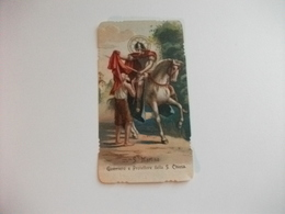 SANTINO HOLY PICTURE IMAGE SAINTE SAN MARTINO GUERRIERO E PROTETTORE DELLA SANTA CHIESA PREGHIERA - Religione & Esoterismo