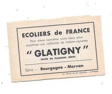 Carnet De 20 Vignettes, ECOLIERS DE FRANCE, GLATIGNY Série BOURGOGNE MORVAN, - Erinnophilie