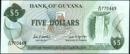 GUYANA - 5 Dollars Nd.(1966-1992) UNC P 22 E - Guyana